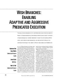 In this article, we propose the use of wishbranches to dynamically red