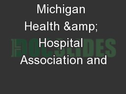 Michigan Health & Hospital Association and