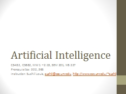 Artificial Intelligence PowerPoint PPT Presentation