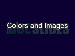 Colors and Images