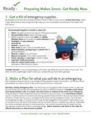 For more information, visit ready.gov or call 1-800-BE-READYPreparing