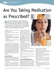 1 / FDA Consumer Health Information / U.S. Food and Drug Administratio