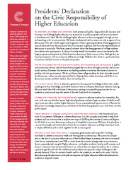 Presidents' Declaration on the Civic Responsibility ofHigher Educ