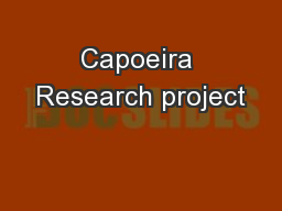 Capoeira Research project