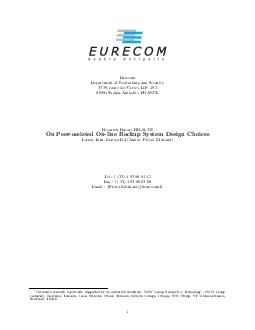 Eurecom Department of Networking and Security  route des Crtes B PDF document - DocSlides