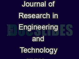 IJRET International Journal of Research in Engineering and Technology eISSN    p PDF document - DocSlides