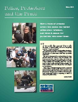 Winter 2012How a wave of protests across the nation has tested police-