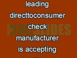 M Direct Checks Unlimited Americas leading directtoconsumer check manufacturer is accepting advertisers in its Customer Loyalty Campaign RideAlong
