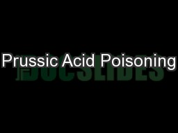 Prussic Acid Poisoning