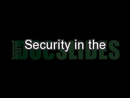 Security in the