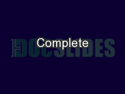 Complete PowerPoint PPT Presentation