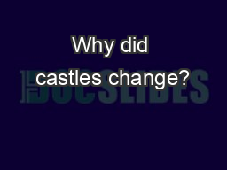 Why did castles change?