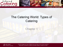 The Catering World: Types of Catering PowerPoint PPT Presentation
