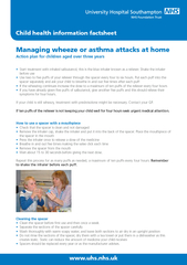 Action plan for children aged over three yearsStart treatment with inh
