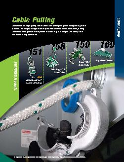 Cable PullingGreenlee offers high-quality and durable cable pulling eq