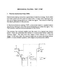 1 Thermo-mechanical Pulp (TMP) Mechanical pulping consumes a great dea PowerPoint PPT Presentation