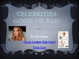 Celebrities: Good or Bad? PowerPoint PPT Presentation