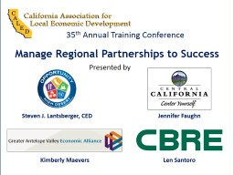 Manage Regional Partnerships to Success