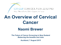 An Overview of Cervical Cancer