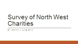Survey of North West Charities
