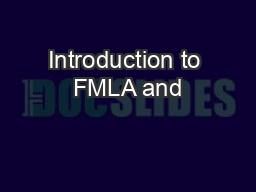 Introduction to FMLA and