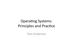 Operating Systems: PowerPoint PPT Presentation