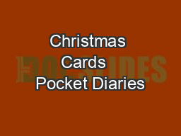Christmas Cards   Pocket Diaries