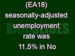 euro area (EA18) seasonally-adjusted unemployment rate was 11.5% in No