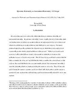 Epistemic Rationality as Instrumental Rationality: A CritiqueAppeared