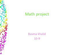 Math project PowerPoint PPT Presentation