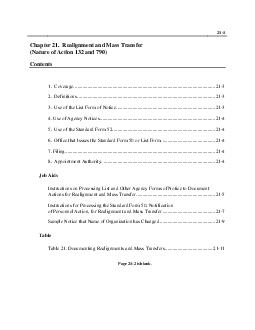 Chapter 21. Realignments and Mass Transfers