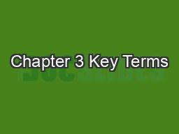 Chapters in a dissertation key terms