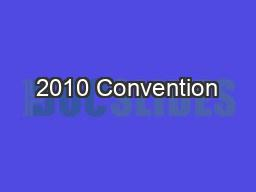 2010 Convention