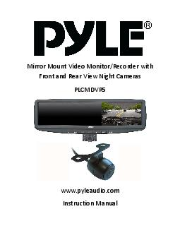 Mirror Mount Video Monitor/Recorder with Front and RearViewNight Camer