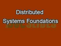 Distributed Systems Foundations