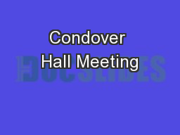 Condover Hall Meeting
