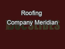 Roofing Company Meridian