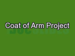 Coat of Arm Project