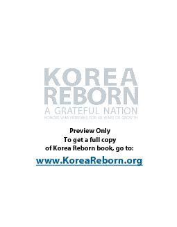 A Republic of Korea child sits alone in the street, after elements of