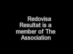 Redovisa Resultat is a member of The Association  PDF document - DocSlides