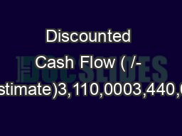 Discounted Cash Flow (+/- 5% Point Estimate)3,110,0003,440,000Industry