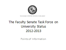The Faculty Senate Task Force PowerPoint PPT Presentation