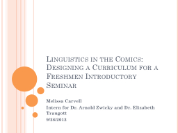 Linguistics in the Comics: Designing a Curriculum for a Fre