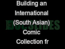 Building an International (South Asian) Comic Collection fr