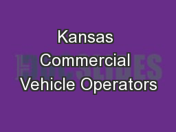Kansas Commercial Vehicle Operators