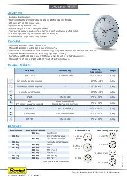 Hour and minute hand clock Technical features Movement Power supply Operating temperatu re Weight Quartz V LR battery C to C kg DCF Radio V LR battery C to C kg  minute series rec PowerPoint PPT Presentation