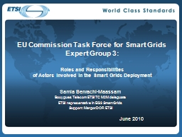 EU Commission Task Force for Smart Grids PowerPoint PPT Presentation
