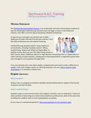 Cna Certification Training PowerPoint PPT Presentation