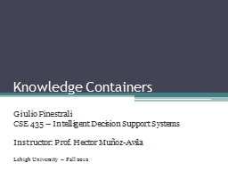 Knowledge Containers