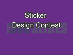 Sticker Design Contest